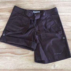 Columbia GRT Omni-Shade Shorts Roll Tab Bow Belt